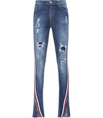 calça jeans luz replay - azul