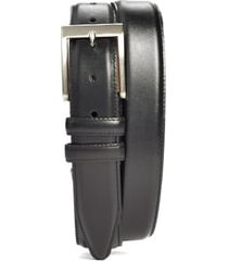 men's big & tall allen edmonds classic wide belt, size 48 - black