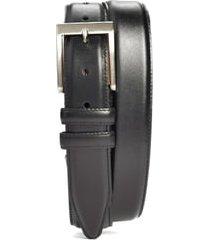 men's big & tall allen edmonds classic wide belt, size 52 - black