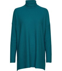 ladies tunic, rib turtleneck polotröja blå nanso