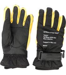 off-white arrows-logo snow gloves - black
