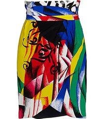 abstract paperbag skirt