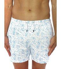 bertigo men's splatter print swim shorts - white - size xl