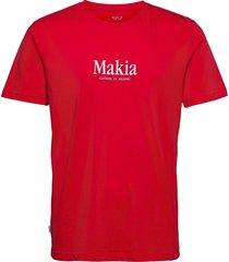 strait t-shirt t-shirts short-sleeved röd makia