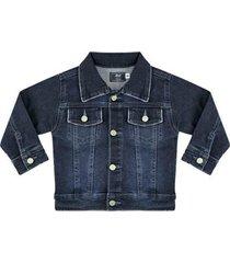 jaqueta infantil look jeans clássica jeans masculina