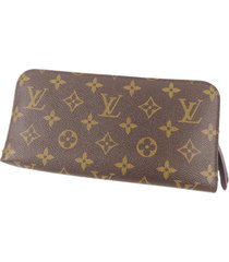 louis vuitton monogram insolite long wallet brown sz: