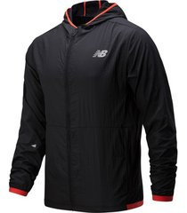 trainingsjack new balance printed impact run light pack jacket