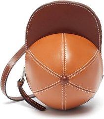 midi cap' duo-tone leather crossbody bag