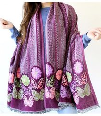 pashmina violeta almacén de paris