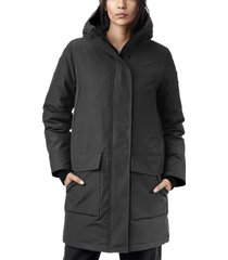 women's canada goose canmore 625 fill power down parka, size xx-small - grey
