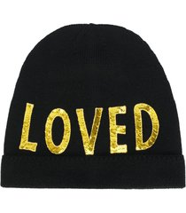 gucci loved sequin-embellished beanie - black