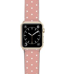 women's casetify polka dots saffiano faux leather apple watch strap