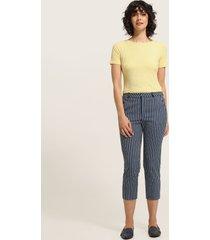 pantalón capri estampado  con bolsillos diagonales-10