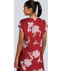 blus alba moda röd::nude