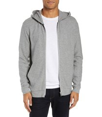 men's theory essential zip hoodie, size xx-large - grey