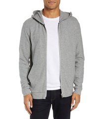 men's theory essential zip hoodie, size x-small - grey