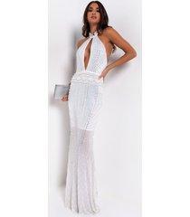 akira pearlfection studded maxi dress