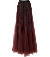 eva long tulle skirt - red