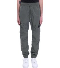 c.p. company pants in green synthetic fibers