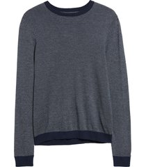 men's nordstrom men's shop birdseye crewneck sweater, size 2xl - blue