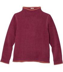 fleece pullover, bes/roestoranje m