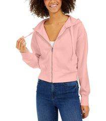hippie rose juniors' zip-up hoodie