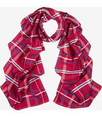 checked silk scarf red 1