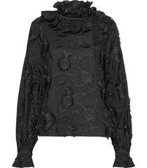 elda blouse lange mouwen zwart custommade