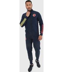 sudadera azul-amarillo-rojo adidas performance fcf pre suit selección colombia
