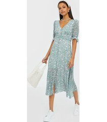 forever new tie sleeve midi dress klänningar