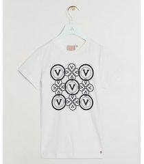 josh v zoe circle v print t-shirt