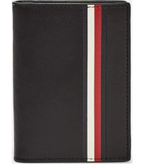 tommy hilfiger men's signature stripe bifold wallet black -