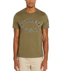avirex men's logo patch t-shirt