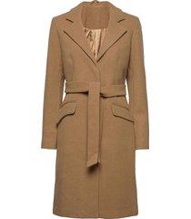 vivicki wool coat/su- noos wollen jas lange jas bruin vila