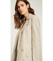 motivi giacca blazer con riga lurex donna beige