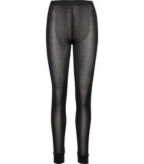 long tights pyjamasbyxor mjukisbyxor svart lady avenue