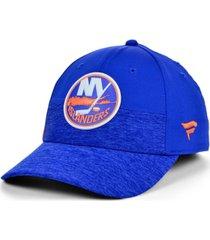 authentic nhl headwear new york islanders 2020 locker room flex cap