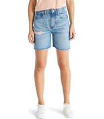 women's etica skylar distressed boyfriend denim shorts, size 25 - blue
