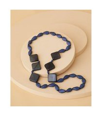 colar de resina - colar bahia cor: azul - tamanho: único