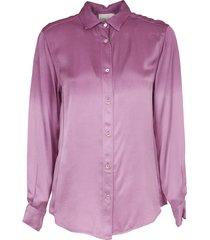 forte forte deep dyed pink viscose satin shirt