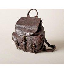 sundance catalog women's gianina backpack in choc brown