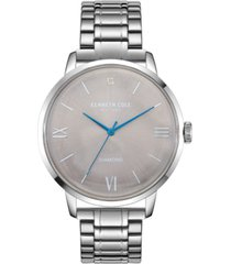 kenneth cole new york men's three hand classic watch with a diamond dial 42mm