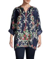 hadley floral silk tunic