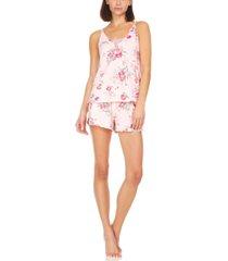 flora by flora nikrooz averie rib-knit cami & tap shorts pajama set