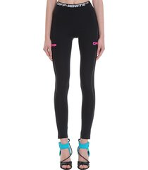 off-white active leggings in black polyester