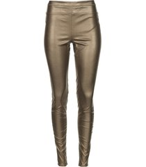 faux leather metallic legging amber  metallic