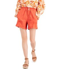 inc paperbag-waist shorts, created for macy's