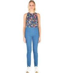 calça jegging cos elastico com elastico barra jeans 36
