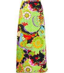 a.n.g.e.l.o. vintage cult 1970s floral print maxi skirt - green