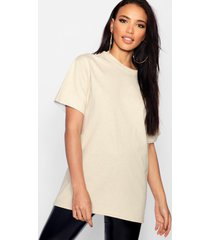 basic oversized boyfriend t-shirt, sand